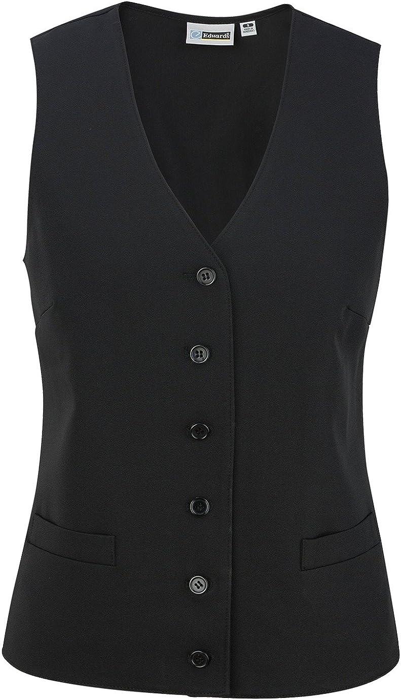 Ed Garments Women's V-Neck Firenza Vest, BLACK, XXX-Large