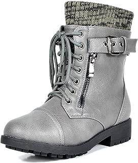Girl's Mid Calf Combat Boots