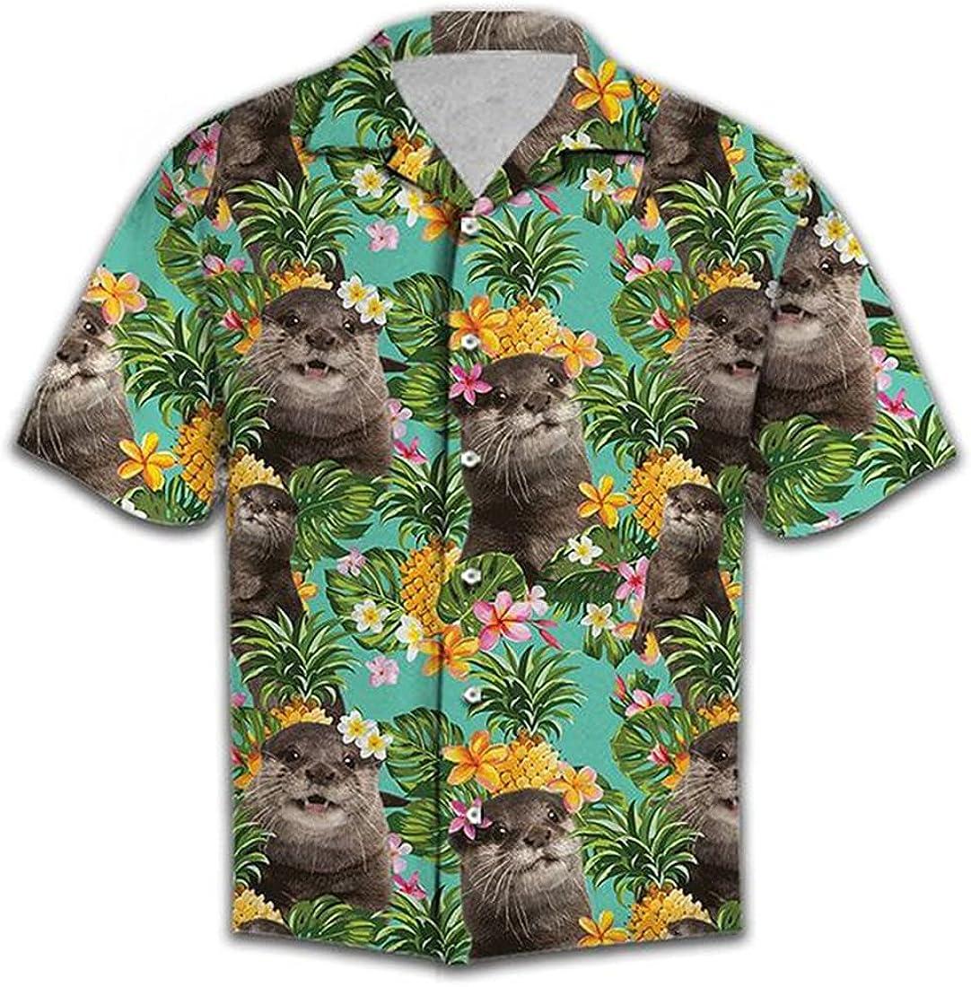 Dog Lover Hawaiian Shirts for Men - Summer Button Down Mens Hawaiian Shirts Short Sleeve Series 2