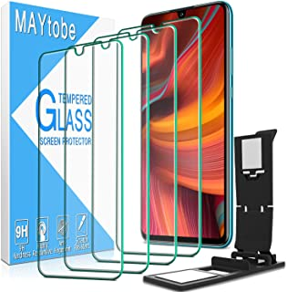 4 Pack MAYtobe for Huawei P30 Lite Screen Protector Tempered Glass, 9H Hardness, High Definition, Bubble Free with Easy In...