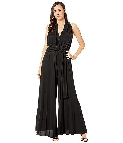 Maggy London Crepe Pleated Jumpsuit (Black) Women