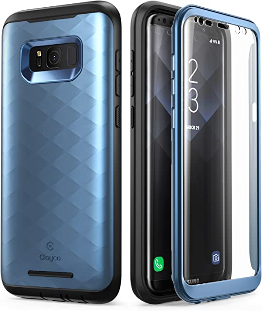 Clayco Funda Galaxy S8 Plus [Hera Series] Carcasa Resistente con Protector de Pantalla Integrado Compatible con Samsung Galaxy S8+ Plus (Version 2017)