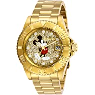 Invicta Women's Disney Limited Edition Quartz Watch with Stainless Steel Strap, Gold, 20 (Model:...