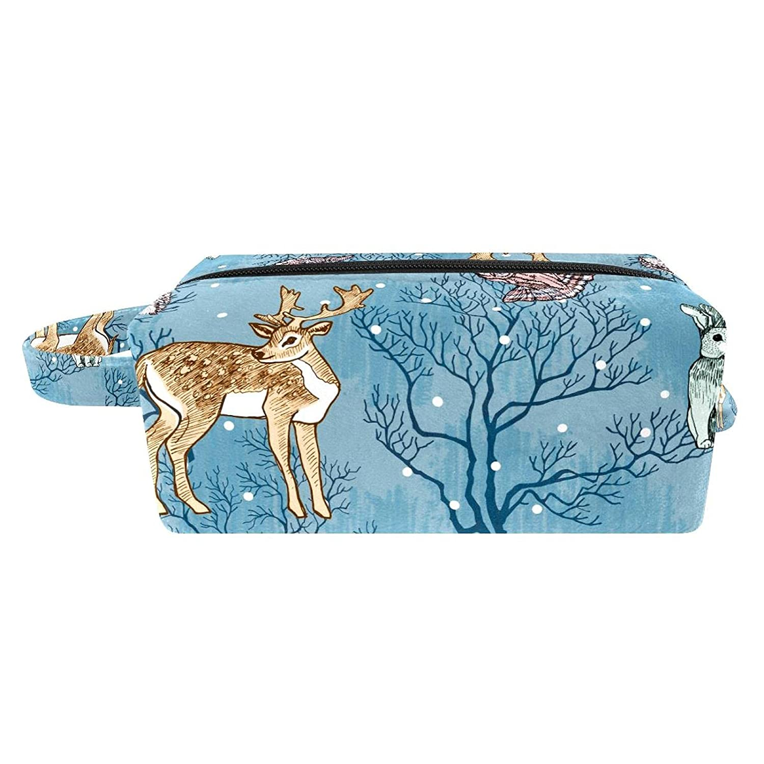 Makeup Bag Travel Cosmetic Forest Many popular brands Animals Trees The Max 64% OFF And In S