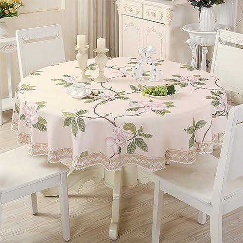 Unbekannt %Tablecloth Runde Tischdecken Wasserdicht ölBesteändig Bedruckte Kanten Tischabdeckung aus Kunststoff HitzeBeste ige Kaffeetischdecken (Farbe   B, Größe   Round-220cm)