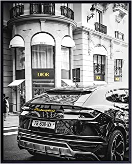 High Fashion Design Wall Art - Lamborghini Poster - Photo of Christian Dior Designer Wall Decor - Glam Room Decor - Couture Glamour Wall Art - Luxury Gift for Women - 8x10 Picture Print