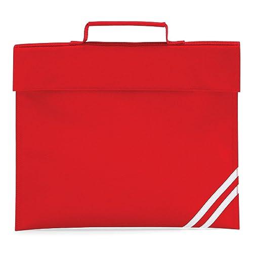 567f4202153f QUADRA CLASSIC BOOK BAG SCHOOL BAG - 8 COLOURS (CLASSIC RED)