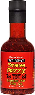 Sichuan Drizzle Chinese Chili Oil -- Condiment & Ingredient, Premium EVOO with Hot Chili Flakes, Rice & Noodles' Condiment...