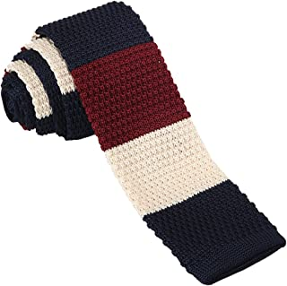 H2H Mens Casual Knit Neck Tie of Various Patterned