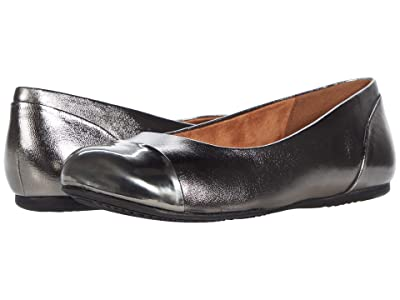 SoftWalk Sonoma Cap Toe (Pewter Leather) Women