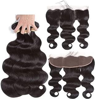 Brazilian Hair Weave Bundles Body Wave Bundles With Frontal Human Hair 2/3 Bundles,18 20 20+16Closure