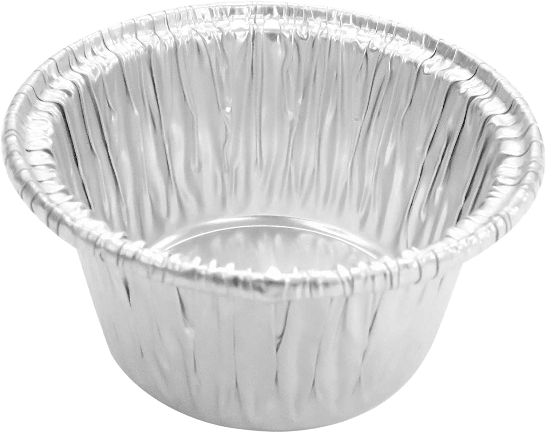 Disposable Aluminum Individual 2 Oz Foil Cups-Souffle Cups-ramekins.  S220 (1000)