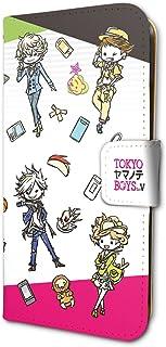 TOKYOヤマノテBOYS for V 01 ちりばめ(グラフアートデザイン) 手帳型スマホケース iPhone6/6S/7/8兼用