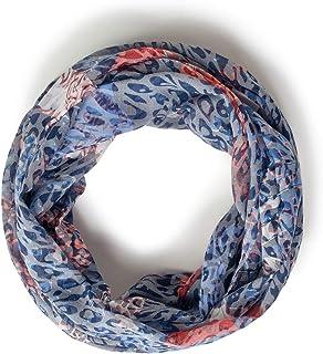 Cecil 571266 Loop Bufanda de moda, Burn Out – Deep Blue, Talla única para Mujer