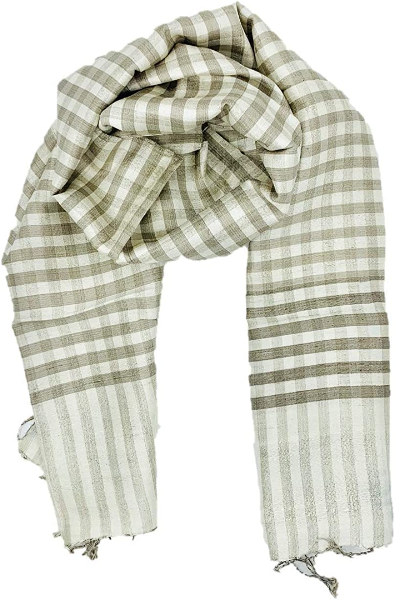 Mimi 100% Natural Mulberry Silk Long Scarf Fashion, Naturally Dyed Gray, Luxuriously Soft, 16x71in