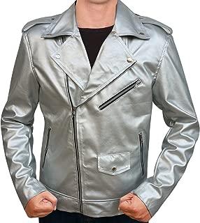 OBX Mens Hero Leather Jacket for X-Men Quicksilver Fans