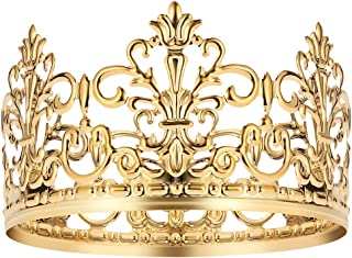 BESTONZON Tiara Crown/Gold Cake Crown Topper Crown Hair Ornaments Wedding Supplies Accessories