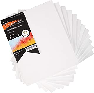 CONDA 8 x 10 inch Canvas Panels Pack of 12 Artist Quality Acid Free Canvas Board