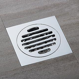 N//A Siphon de Sol Drain de Plancher en Laiton Drain de Douche Salle de Bains Drain de Sol Noir Cuisine D/éodorant Drain de Sol Couvercle de Grille Drain de Sol
