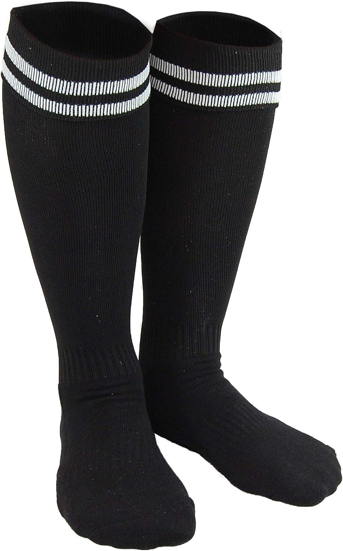 Lian LifeStyle Boy's 1 Pair Knee High Sports Socks for Baseball/Soccer/Lacrosse XL002 XS Black