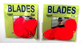 Catchmore Colorado Blades - Size 4 - Multiple Colors - Count Varies by Color - 2 Packs - for Harnesses, Spinners, Jewelry, etc.