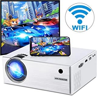 Wireless WiFi Movie Projector 2800 Lumens, DIWUER Mini Video Projector, 1080P Supported, 176