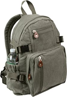 rothco vintage canvas mini backpack