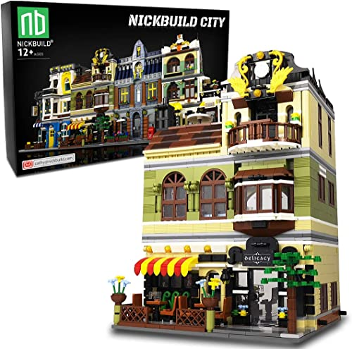 wholesale Nickbuild Street Chinese Restaurant MOC Building new arrival Blocks Toy, Towns Series Kits, Buildable City Toys, Collectible Play Model online Set and Building Kit for Kids and Teens (1326 PCS) sale