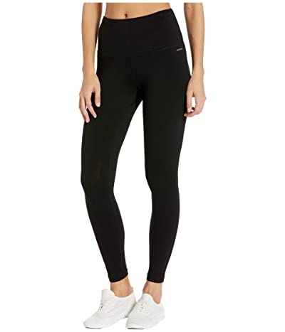 Jockey Active Cotton/Spandex Basics 7/8 Leggings (Deep Black) Women
