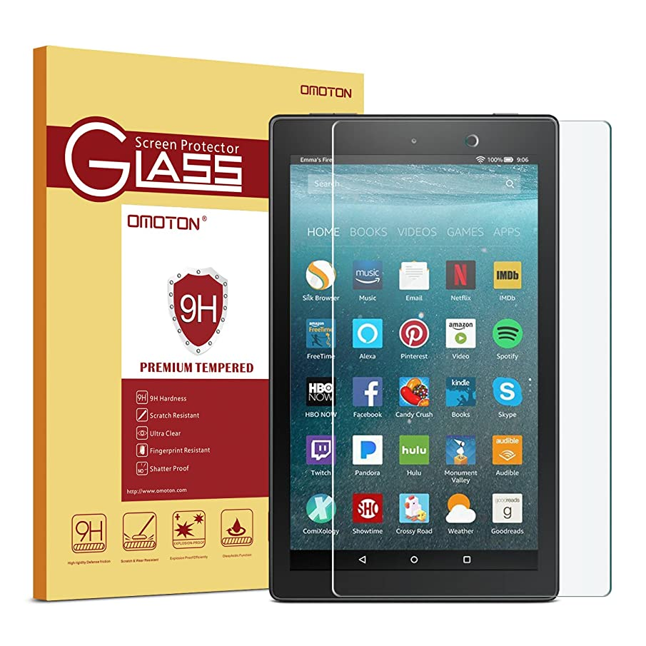 All-New Fire 7 Kids Edition/Fire 7 Screen Protector (2017/2019 Release) - OMOTON Tempered Glass Screen Protector for All-New Fire 7 Kids Edition/Fire 7 Tablet with Alexa (9th/7th Generation)