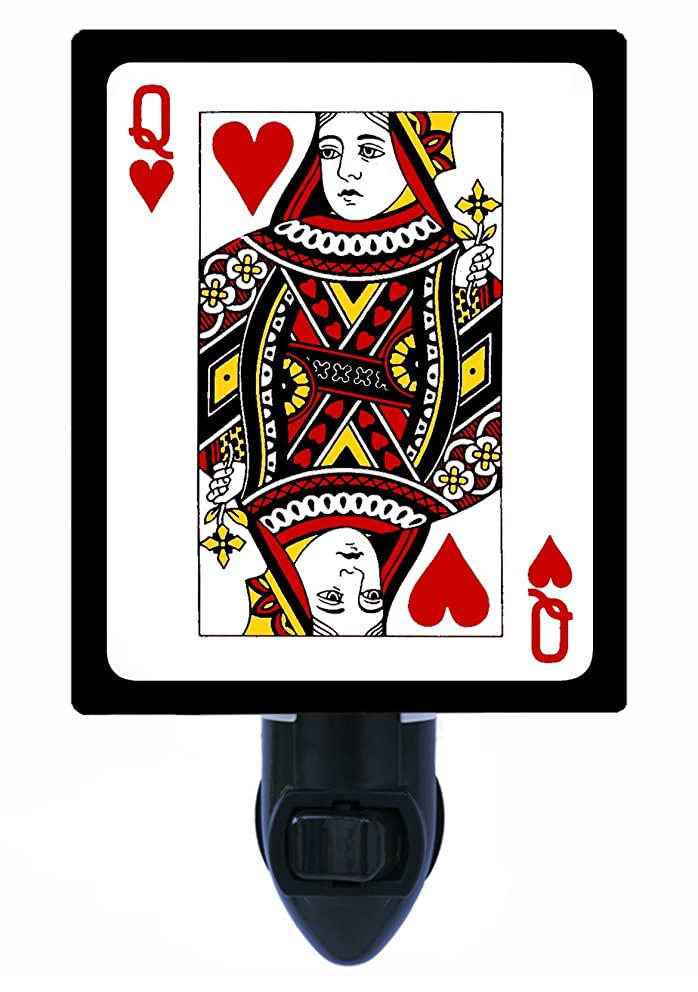 Night Light, Queen of Hearts, Playing Cards, Deck, Poker LED Night Light