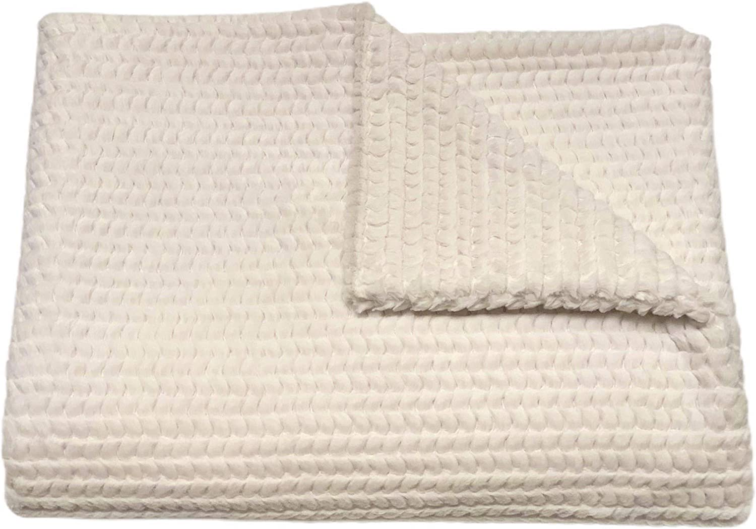Tourance- Brooklyn Max 56% OFF Throw 45x60 Very popular – Ivory