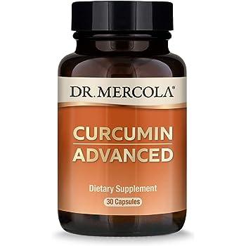 Dr. Mercola Curcumin Advanced, 500mg, 30 Servings (30 Capsules) Curcumin Supplements, Curcumin Spice, Non GMO, Soy-Free, Gluten-Free, Curcumin Root Extract