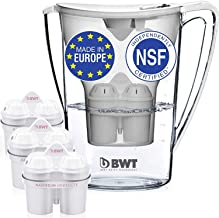 BWT Premium Water Filter Pitcher & 3 Filters, Award Winning Austrian Quality, Technology For Superior Filtration & Taste