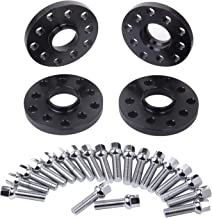 ZY Wheel 4pcs 15mm 5x100 5x112 Black Hubcentric Wheel Spacers Forged Aluminum w/ 20pc Lug Bolts 45mm Long for Audi TT A3 A4 A6 A8 S4 S6 S8 Volkswagen Jetta Golf GTI R32 Corrado Beetle EOS CC Passat