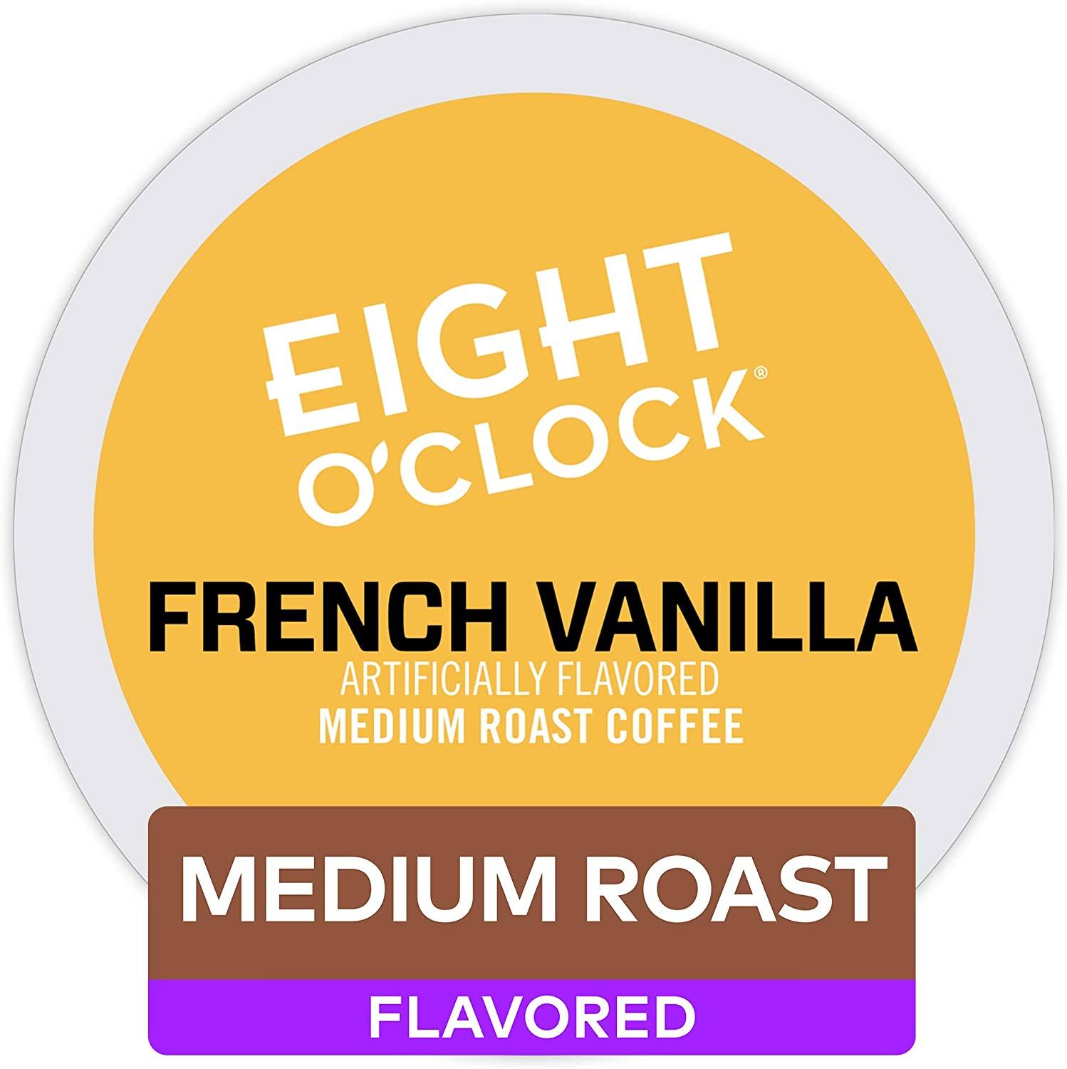 Eight O'Clock Coffee French Vanilla, Single Serve Coffee K-Cup Pod, Medium Roast, 72