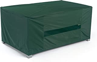 Covermates – Rectangular Dining Table Cover – 50W x 30D x 25H – Classic – 12-Gauge Vinyl – Elastic Hem – Mesh Vent for Breathability – 2 YR Warranty – Weather Resistant - Green