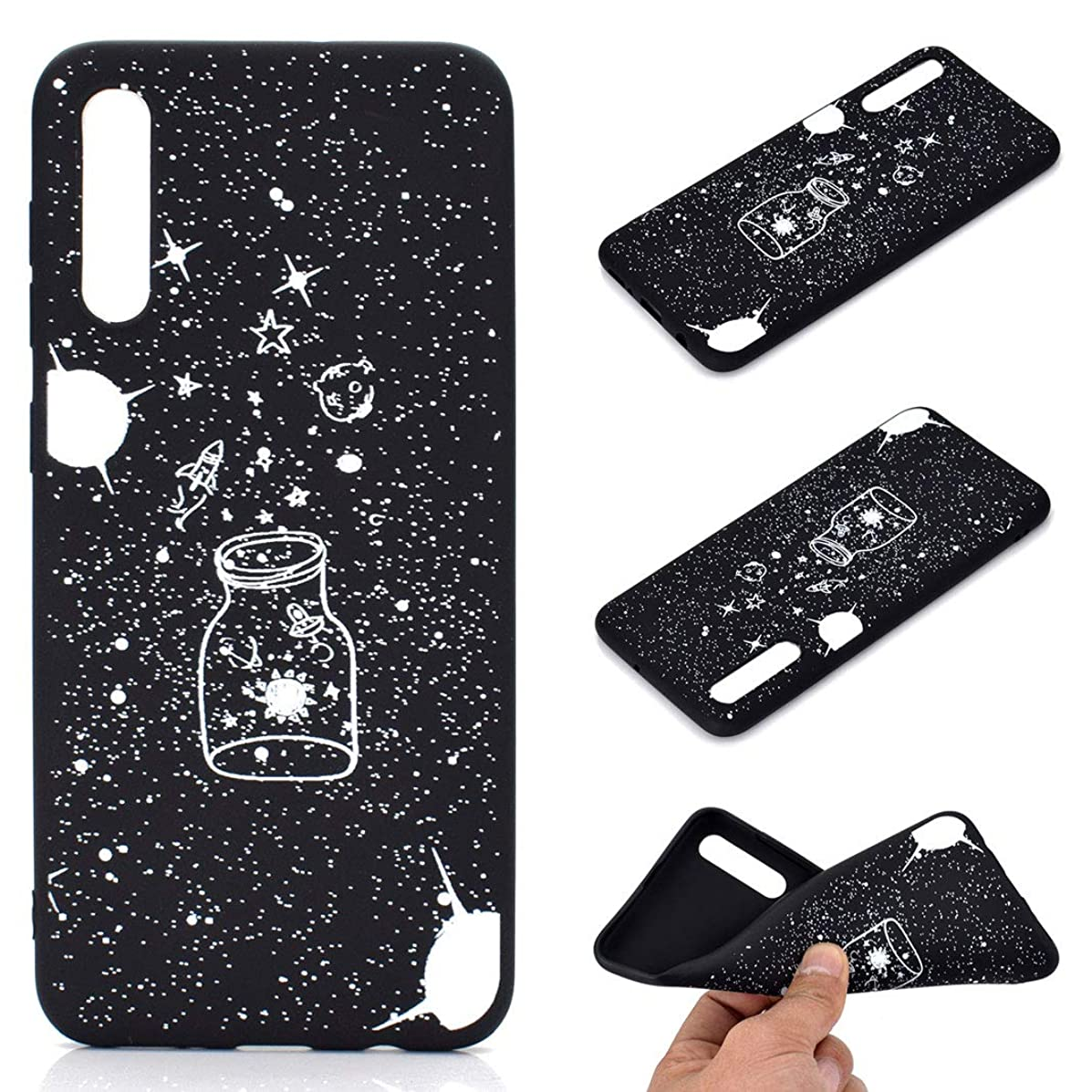 For Samsung Galaxy A50(2019) Phone Case, Flexibility TPU Silicone Cover Case with Antiskid Dustproof Drop Resistance Anti-Scratch, Effective Protection for Galaxy A50(2019)-Style 1