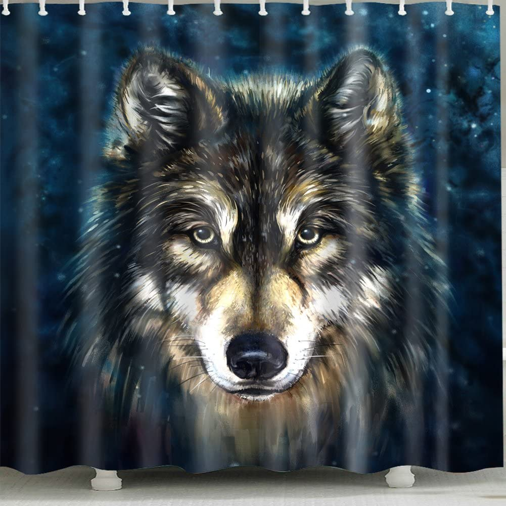 Wolf-Head 5% OFF Shower Curtain 1 Pc Bathroom for Home Ranking integrated 1st place and