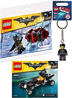 LEGO Badman Figure Building Kit Block Toy Set Batman in Phantom Zone + Batmobile car & Bad Cop Movie Kecyahin Character Bundle