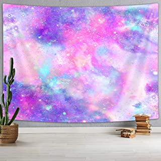 NYMB Pink Marbled Galaxy Tapestry Wall Hanging, Psychedelic Art Purple Repeat Abstract Blue Bright Color Colorful, Tapestries Wall Art for Bedroom Living Room Dorm 60X40 Inches