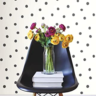 RoomMates Black Dots Peel and Stick Wallpaper