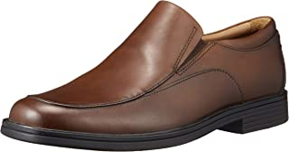 Clarks Men's Un Aldric Walk Dark Tan Lea Leather Formal Shoes