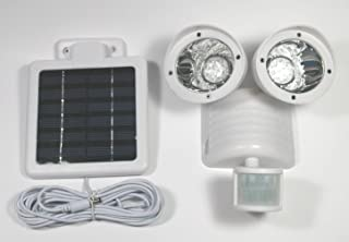 Solar Motion Sensor Security Spotlight 22 LED Dual Flood Light White