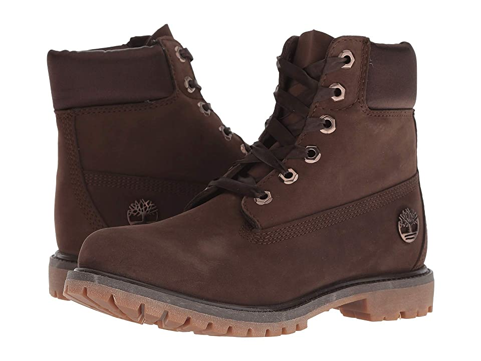 Timberland 6 Premium Waterproof Boot (Dark Brown Nubuck) Women