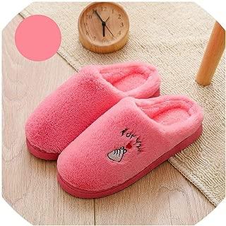 Ches 2019 Zapatillas de casa para Mujer, cálidas, de Felpa, Suela Gruesa, Antideslizantes, de algodón, para Parejas