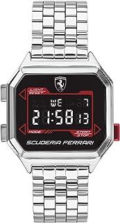 Ferrari Men's Digidrive Quartz Watch with Stainless Steel Strap, Silver, 18 (Model: 0830703)