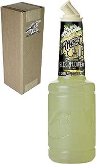 Finest Call Premium Elderflower Syrup Drink Mix, 1 Liter Bottle (33.8 Fl Oz), Individually Boxed