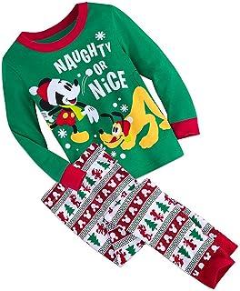 3cea0c07ec Mickey Mouse Disney Store Naughty or Nice Pluto Boy s Cotton Holiday  Christmas Pajama Set