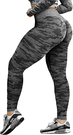 Women's Sports Seamless Butt Push Up Gym Leggings Slimming High Waist Tummy Control Workout Yoga Compression Pants
